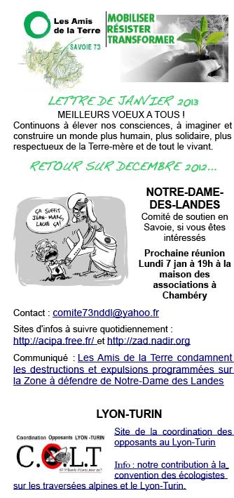 lettre janvier 2013